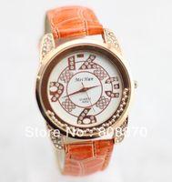 Women's Round 23 Women's crystal gel Watch rose gold dial Quartz movement watches PU strap clock hours sample order GH21