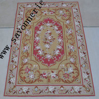 Wholesale 4 x6 Floral Roses French Aubusson Design Needlepoint Rug Tapestry Wall Hanging