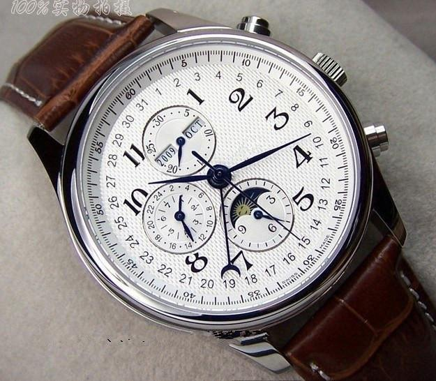 swiss automatic mechanical moon phase watch men watch the moon and see larger image