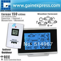 Kitchen Temperature Sensor R01AOK-5018B Digital Indoor Outdoor Wireless Weather Station Temperature Humidity Remote Sensor Date Radio Controlled Clock RCC DST F C