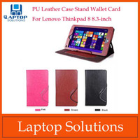 Wholesale For Lenovo Thinkpad inch Tablet PU Leather Case Stand Wallet Card Folio Cover