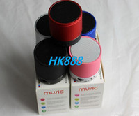 Wholesale S10 Metal Mini Portable Hi Fi Bluetooth Wireless Speaker TF Slot Handfree Mic Stereo Portable Speakers HK888