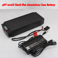 Cheap 48V 20AH Li-ion Battery with Black Flat Aluminium Case Charger and BMS Ebike Bike Electric Bicycle Battery For Electric Scooter