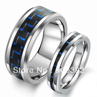 Wholesale NEW Arrivel Fashion Tungsten Steel Ring Black Carbon Fiber Couple Jewelry WJ185