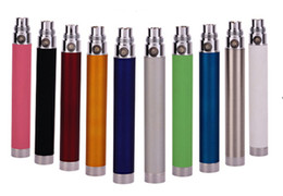 Wholesale Electronic cigarette battery ego t USB Battery pass through battery e cig battery attached usb line charged from bottom with usb