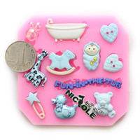 Wholesale Nicole baby silicone fondant mold cake molds handmade craft mold jewelry chocolate mold resin candy mould F0606