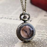 al por mayor elegantes collares de piedras preciosas-Nuevo estilo linda de moda de lujo de la piedra preciosa que puede abrirse Creado collar de reloj de bolsillo elegante