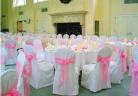 Wholesale new cheap sparkle organza wedding chair sash for party banquet decoration event decoration