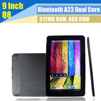 Wholesale 9 inch A23 Dual Core Q90 Android GB Allwinner Dual Camera WiFi Tablet PC MID inch jelly bean google play quot Multi Capacitive Touch
