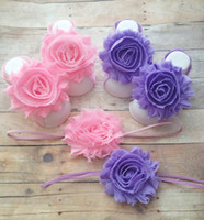 baby girl sandles - Matching Shabby Flower Baby Barefoot Sandals and Headband You Choose Color Great for Summer Baby Barefoot Sandles set