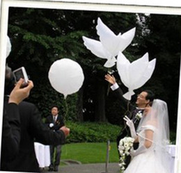 Wedding Decoration White Dove Balloon White Wedding Balloons Eco-Friendly Biodegradable Helium Balloons Party Favors 10pcs lot