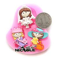 Wholesale Nicole silicone fondant cake mold handmade chocolate molds cookies resin candy craft mold F0609