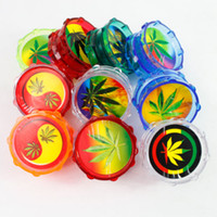 Wholesale 10pcs Acrylic Smoking Smoke Tobacco Weed Pot Herbal Herb Grinder Spice Crusher Cutter Random Delivery