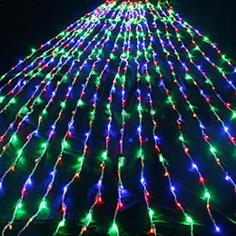 110V 220V 6Mx3M Colorful LED Waterfall Curtain String Light Christmas lights Holiday Xmas Cristmas Decoration Outdoor Free Shipping