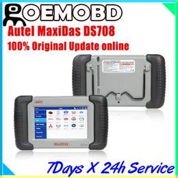 Wholesale Autel MaxiDas DS708 Automotive Diagnostic Analysis System OBD EOBD Scanner For EU US Aisian Vehicles multi language