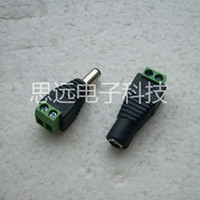 Wholesale Female Male Mark Polarity DC Power Jack Connector Adapter For Single Color LED Strip Light