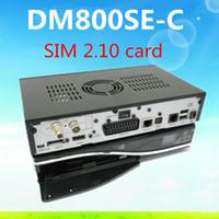 venda por atacado digital receiver-DM800 se DM800HD se com o SIM card 2.10 Segurança 800se 800HD se DM800SE DVB-C Receptor Digital Cable frete grátis