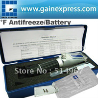 Wholesale New Portable Battery Acid Antifreeze Fluid Glycol Refractometer degree F Built in ATC Calibration Knob