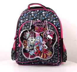 Kids School Bags Monster High Elves High School Girl bags Children's bags kids' school bags Backpacks with 3 Color 3d butterfly Backpack Bag