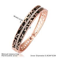 Wholesale Top Sale K Rose Gold Bangle Sparkly Rhinestone Crystal Bracelet Bangle Fashion k bangle