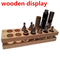 Electronic Cigarette acrylic displayer case - Wooden display rack display stand showcase wood display shelf retail store VS acrylic displayer case for e liquid e juice Patriot omega t