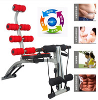 Ab Rollers Four-Wheeled  Lazy 6 IN 1 Multifunctional AD Abdomen Machine Back Straight Abdominal Crunches Ab Rollers Fitness Equipment Machine Body Slimming Supplies