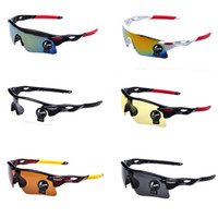 plastic lens - 6 Colors Lens Sport Sunglasses Cycling Glasses Outdoor Sport Parkour Trend Mirrors Riding Eyewear