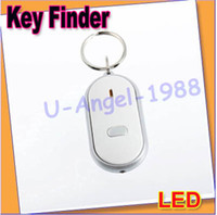 Wholesale 20pcs LED Key Finder Locator Find Lost Keys Chain Keychain Whistle Sound Control