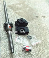 Sliding   1 antibacklash ballscrew ball screw 1605-700mm-C7+ BK12 BF12 bearing mount support blocks +1 coupling for CNC