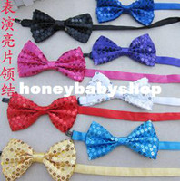 Wholesale wholesalepaillette bow tie bling bow tie color mixed cm adult children dance accessories sequined bow tie knot hanging led