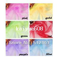 Wholesale cm Wedding Patry Banquet Decor Organza Chair Sashes Bow Cover Sashes Decoration Gauze