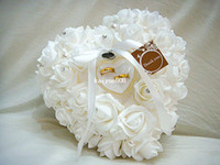 Wedding Event & Party Supplies Yes Wedding Favors Ring Pillow With Transprent Ring Box 5 Color Heart Design Very Special Unique Ring Pillow Decorations Favor 2014