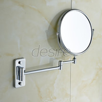 Wholesale IKEA Style Wall Mounted Foldable Make up Mirror Double sided Hairdressing Mirror X Magnifying Mirror inches Brass Made