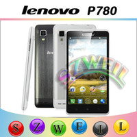 Wholesale Original Lenovo P780 MTK6589 Quad Core Android4 Cell Phone G RAM G ROM With Inch IPS Screen MP Camera
