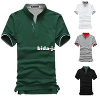 Men Cotton Polo Wholesale-4 colors in stock 2014 New Men's polo brand shirt Short Sleeve cotton T-Shirt for men factory sale M L XL XXL XXXL