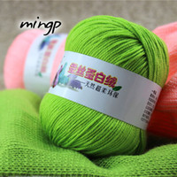 Wholesale Yarn coarse milk cotton silk protein velvet baby line child hand knitted knitting wool wool knitting hand yarn for hand knitting