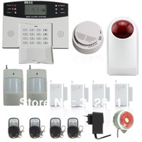 Wholesale Wireless Intelligent Security Alarm Kit With Wireless Smoke Detector And Wireless Outdoor Siren