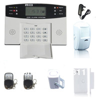 Wholesale Wireless GSM home burglar security alarm system with LCD display