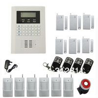 Wholesale Wireless Security GSM PSTN Dual Network Alarm System With LCD Display Quad Band Use for World