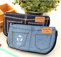 Fabric   creative fashion denim pencil cases bags