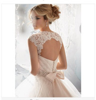 A-Line online store - Sweetheart Beading Belt Remove Jacket Backless Tulle Wedding Dresses SiSi Bride Store Online Wedding Gown