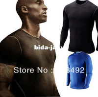 Wholesale New Genuine Sports Apparel Mens Compression Shirt Performance Underwear Running Fitness Yoga Cool Feeling Quick Dry UV