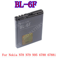 yes Li-ion For Nokia >100pcs new 2014 BL-6F BL6F Battery For Nokia N78 N79 N95 6788 6788i Battery AKKU Bateria Batterij high quality free shipping