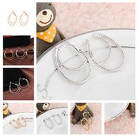 Wholesale Hot Earring Pretty Women Boutique Electroplating The Bronze Earring Ear Loop Hoop Jewelry ER