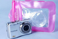 beach items - New Blue Pink Waterproof Digital Camera Cases For Nikon Canon Sony OLYMPUS Underwater Dry Bags Pouch Outdoor Equipment Beach Items