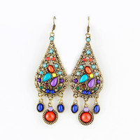 animated earring - Hot Selling Ethnic Style Beads Alloy Dangle Earrings Long Animated Earrings Bijoux
