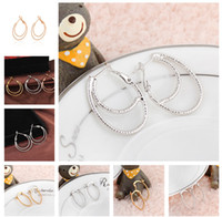 Wholesale Hot Earring Women Boutique Electroplating The Bronze Earring Ear Loop Hoop Jewelry ER
