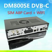 Wholesale 3pcs DVB C dm800se DM800HD se SIM a8p with mbps wifi inside HD se DM800 hd se DVB C Cable Receiver Enigma2