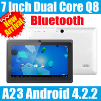 Wholesale 7 inch Allwinner A13 A23 Dual Core Tablet PC Capacitive Touch Screen Android Dual camera wifi MB RAM GB