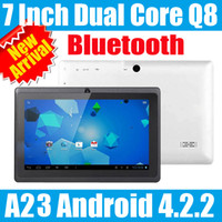 Wholesale Newest Bluetooth inch A23 Dual camera Tablet Touch Screen Capacitive Dual core WIFI OTG MB mini Android Tablet PC